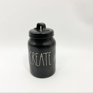 Create Rae Dunn Canister Black White
